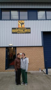 B lightman martial arts sign is up, thank you to all those who helped create both signs Joanne Lightman and Rob Baldwin — with Joanne Lightman in Dawlish.